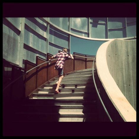 Springs preserve stairs
