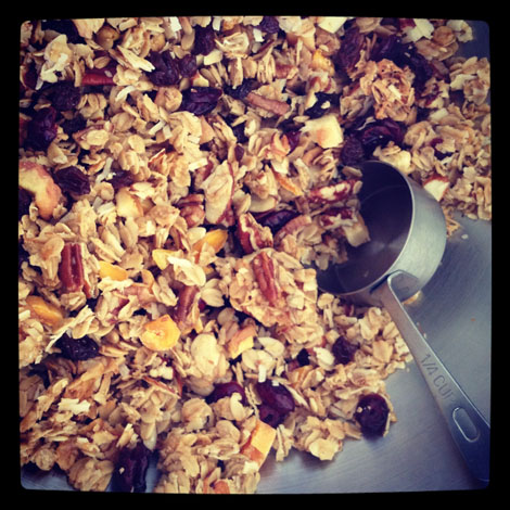 Holiday granola