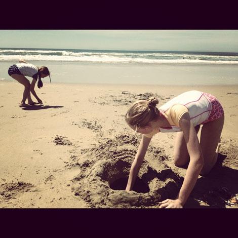 Beach excavate