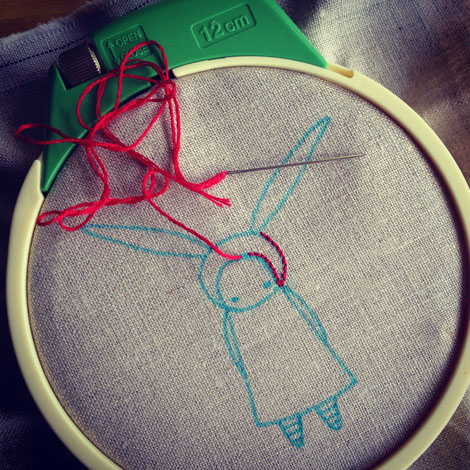 Stitching rabbit
