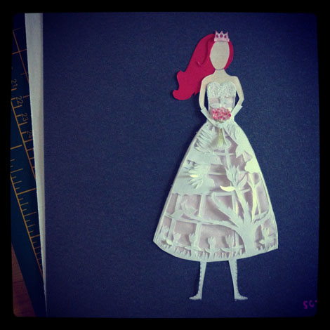 Paper doll cutout