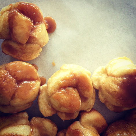 Honey pig sticky buns